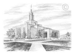 Draper Utah Temple - Sketch