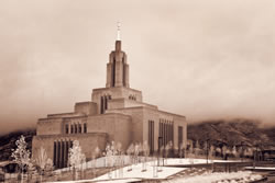 Draper Temple - Infared in the Clouds