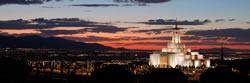 Draper Temple Sunset - Panoramic