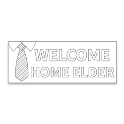 Coloring Missionary Banner - Elder lds missionary banner, missionary poster, homecoming poster, welcome home poster for missionaries, lds welcome home banner, elder welcome home banner