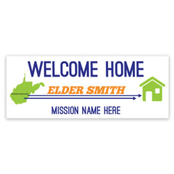 Mission to Home Banner - Elder lds missionary banner, pathway home missionary banner, coming home missionary poster, homecoming mission poster, elders homecoming banner, elders missionary poster, elders missionary banner