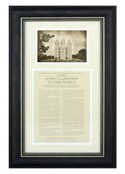 The Family Proclamation Framed with Temple Picture