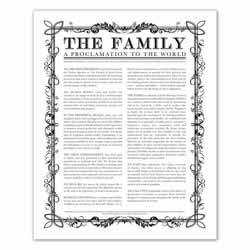 Filled Leaf Family Proclamation - Black - Printable