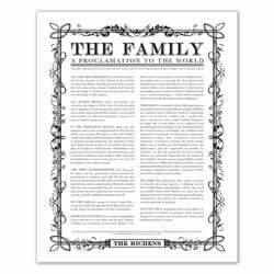 Personalized Filled Leaf Family Proclamation family proclamation, family proclamation to the world, the family proclamation, filled leaf, leaf, black family proclamation, gold family proclamation, charcoal family proclamation, custom family proclamation, personalized family proclamation