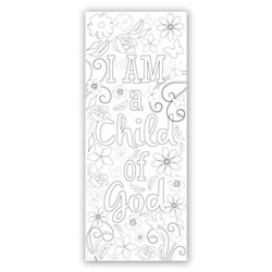 Flower Coloring Bookmark - Printable
