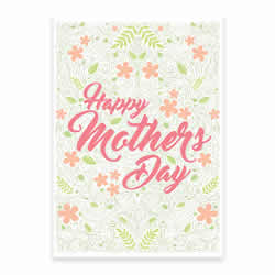 Mother's Day Card - Flowers - Printable - LDPD-MOMCRDFLW