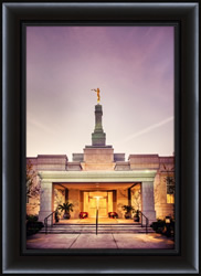 Fresno Temple Entrance - Framed