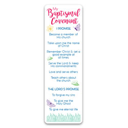 Girl's Baptismal Covenant Bookmark - LDP-BKMKGBC
