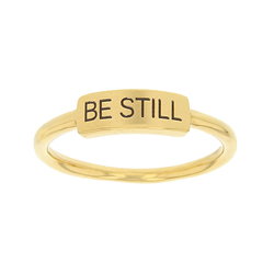 Be Still Bar Ring bar ring, lds text bar ring