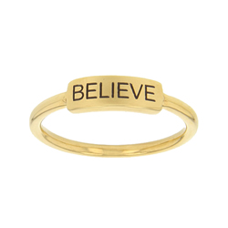 Believe Bar Ring bar ring, lds text bar ring