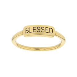 Blessed Bar Ring bar ring, lds text bar ring
