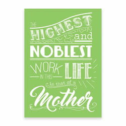 Mothers Day Card - Green - Printable free mothers day card, printable mothers day card,