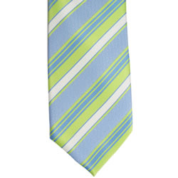 Boys Adjustable Green Stripe CTR Tie