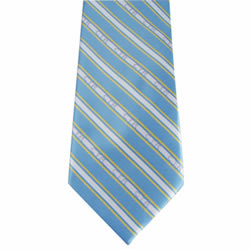Boy's Blue and Yellow CTR Stripe Tie