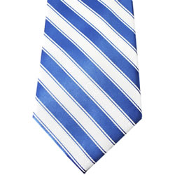 Mens Blue & White CTR Necktie