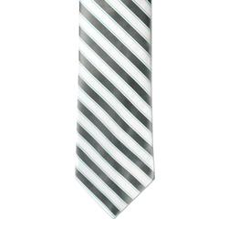 Boy's Adjustable Silver & White CTR Tie