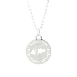Honduras Mission Necklace - Silver/Gold honduras lds mission jewelry, honduras mission