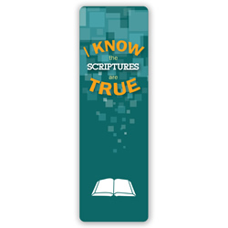 I Know the Scriptures are True Bookmark 2016 primary theme bookmark, 2016 lds primary theme bookmark, 2016 primary theme hand-outs, 2016 theme hand-outs, lds theme hand-outs, lds bookmark