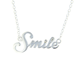 S.M.I.L.E Necklace smile necklace, smile, smile jewelry, simply minded is life eternal, simple,