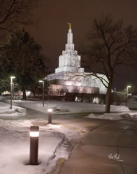 Idaho Falls Temple - Night Path
