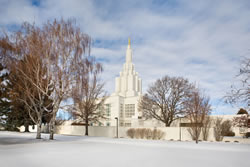 Idaho Falls Temple - Snow