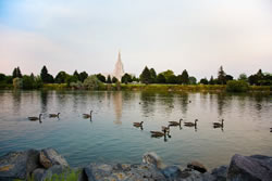 Idaho Falls Temple - River