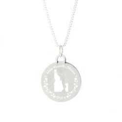 Idaho Mission Necklace - Silver/Gold idaho lds mission jewelry