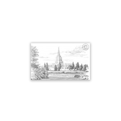 Idaho Falls Temple Sketch Recommend Holder