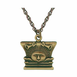Nauvoo Temple Sunstone Necklace - Gold