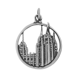 Salt Lake Temple Circle Charm