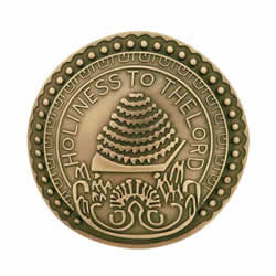 Salt Lake Temple Doorknob Pin - Gold