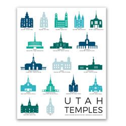 Utah Temples Tracker Poster - 5 Designs utah temples poster, utah temples, chalkboard temples, utah temples chalkboard, chalkboard utah temples, chalkboard