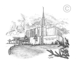 Jordan River Utah Temple - Sketch