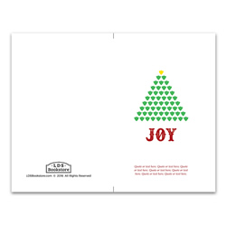 Joy Tree Christmas Program Cover - Printable lds program cover, lds printable program cover, lds sacrament program