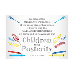 Children & Our Posterity Oaks Quote - Printable lds visiting teaching method, lds visiting teaching handout, lds relief society message handout, july relief society handout