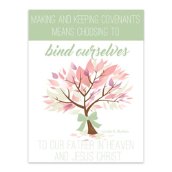 Bind Ourselves to Father In Heaven - Printable lds visiting teaching method, lds visiting teaching handout, lds relief society message handout, june relief society handout