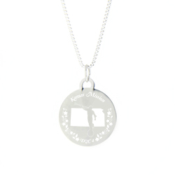 Kansas Mission Necklace - Silver/Gold kansas lds mission jewelry