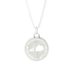 Kentucky Mission Necklace - Silver/Gold kentucky lds mission jewelry