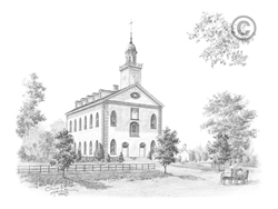 Kirtland Ohio Temple - Sketch