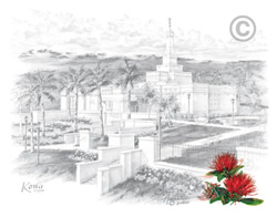 Kona Hawaii Temple - Sketch