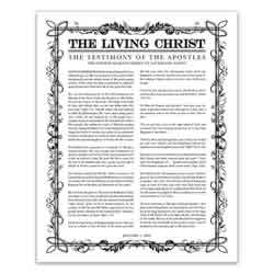 Filled Leaf Living Christ - Black - Printable