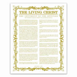 Filled Leaf Living Christ - Gold - Printable living christ, living christ printable, black living christ, filled leaf