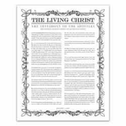Filled Leaf Living Christ - Charcoal - Printable