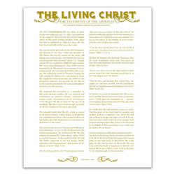 Newspaper Living Christ - Gold - Printable living christ, living christ printable, black living christ, newspaper