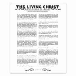 Newspaper Living Christ filled leaf, leaf, black, gold, charcoal, the living christ, living christ, home decor, family posters, newspaper