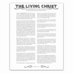 Newspaper Living Christ - Charcoal - Printable living christ, living christ printable, black living christ, newspaper