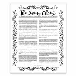 Organic Living Christ - Black - Printable