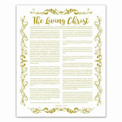 Organic Living Christ - Gold - Printable living christ, living christ printable, black living christ, organic