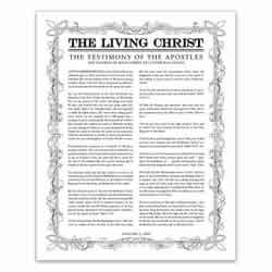 image regarding The Living Christ Free Printable identify The Dwelling Christ Poster - Black Leaf Define Layout Printable