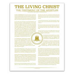 Temple Stamp Living Christ - Gold - Printable living christ, living christ printable, gold living christ, temple stamp